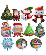 Christmas Foil Balloon merry christmas Snowman Christmas Tree Santa Clau... - $9.56
