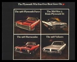 1968 Plymouth Brochure Road Runner GTX Barracuda - $12.61