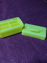 Late 1960s Vintage Barbie Sized Yellow Luggage Train Case - $15.00