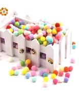 DIYHouse® 100PCS/Lot Approx 15-18MM Multi Color Pompoms Soft Pom Poms Balls - $4.66