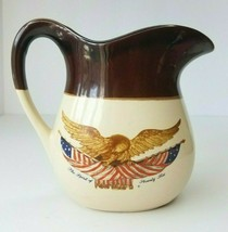 Vintage Spirit of 76 Carved Wooden Eagle Pitcher by the National Gallery... - $14.50