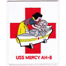US Navy AH-8 USS Mercy Hospital Ship Military Patch - $11.87