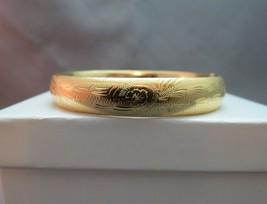 """14k Yellow Gold Antique Hinged Bracelet E Rine Designer 12.99 Grams 6.5""""... - $494.99"""