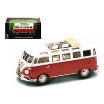 1962 Volkswagen Microbus Van Bus Red With Open Roof 1/43 Diecast Car by ... - $22.66
