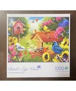 1000 Piece Jigsaw Puzzle Garden Birdhouse Buffalo Games New Sealed - $10.74
