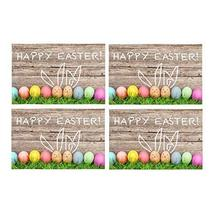 InterestPrint Happy Easter Decoration Easter Eggs and Cute Bunny Washabl... - $30.68