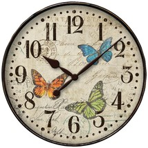Westclox 32897BF 12 Round Butterfly Wall Clock - $28.11