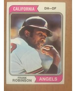 1974 Topps Frank Robinson #55 Baseball Card NM Condition Angels - $7.99