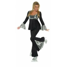 Underwraps Disco Ball 70s Schlaghose Top Erwachsene Damen Halloween Kost... - $30.65
