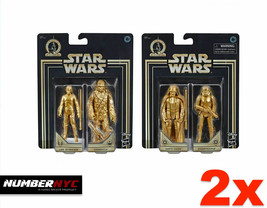 Star Wars Hasbro Gold Edition Darth Vader Stormtrooper Luke Skywalker Ch... - $56.42