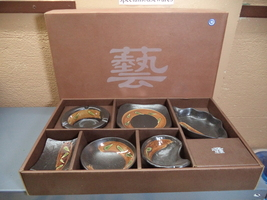 Oriental Ceramic Sauce Bowls: 5 with Handles OR 6 Shapes NIB  - $9.00