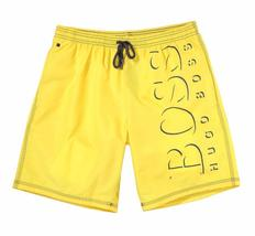 NEW MEN'S HUGO BOSS LOGO PREMIUM KILLIFISH SWIM QUICK DRY BOARD SHORTS YELLOW image 3
