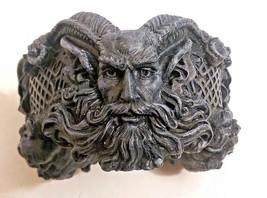 """JUPITER AMMON Horned Deity Trinket Bowl / Ashtray 5-1/2"""" Diam x 3"""" H (92... - $17.81"""