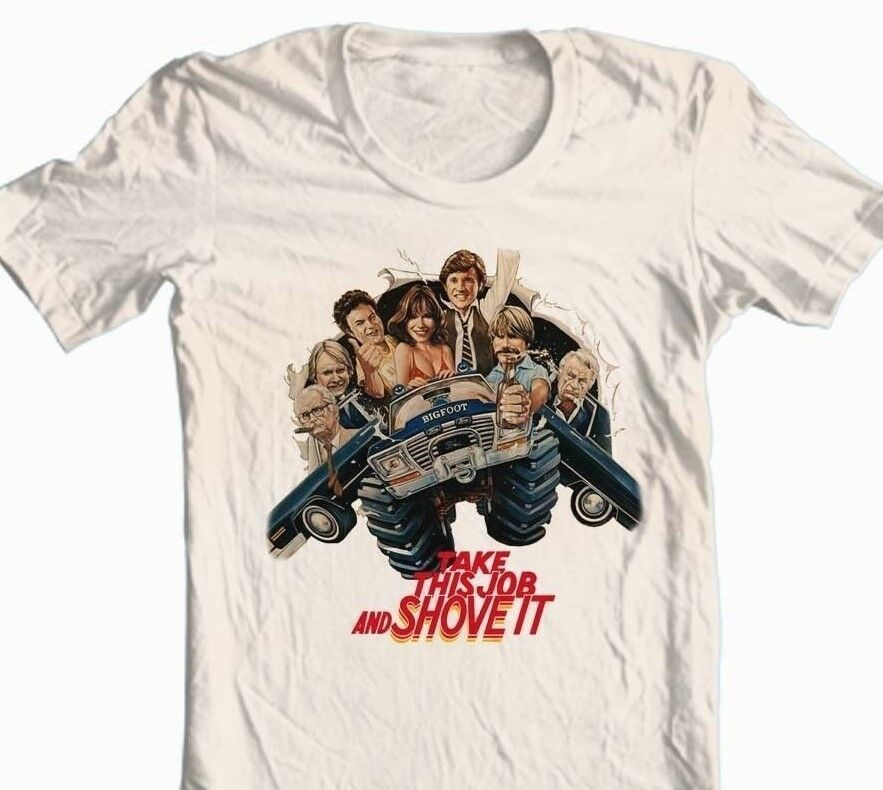 Take This Job Shove It T-shirt retro 80s movie tee free shipping 100% cotton