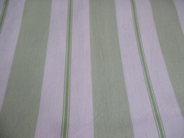 Pottery Barn Kids Green Stripe Curtain One Panel Lined Cream Off White 4... - $34.64