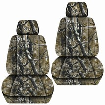 Front set car seat covers fits Chevy Silverado 2008-2021   Camouflage 8 Colors - $79.99