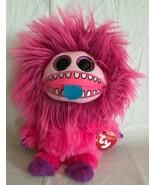 """Ty FRIZZYS ZEEZEE Plush Big Eyes Fuschia Medium 10"""" MWMT Monster New - $9.90"""