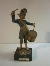 VINTAGE ITALIAN MADE NAPOLEONIC STYLE PRUSSIAN DRUMMER SOLDIER CARRARA M... - $9.99