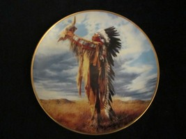 PRAYER TO THE GREAT SPIRIT collector plate PAUL CALLE Native Chief - $19.99
