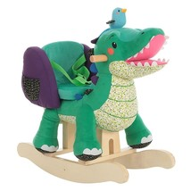 Labebe Child Rocking Horse Toy, Stuffed Animal Rocker, Green Crocodile P... - $152.45