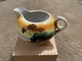 "VINTAGE Lusterware Takito Hand painted Japanese Landscape  3.5"" Creamer - $4.94"