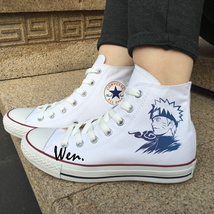 Uzumaki Naruto Shoes Anime Converse All Star Men Women Fashion Sneakers ... - $99.00