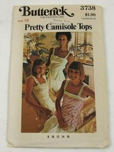 Butterick 3738 Camisole Top Self Straps Sewing Pattern Women Size 12 Vin... - $10.99