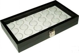 New 24 Coin Holder Case Storage display showcase Box Gem Jar - $39.55