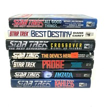 Star Trek Hardback Hardcover Books Lot of 7 The Next Generation w/ Dust Covers - $35.39