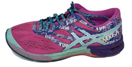 ASICS Gel Noosa Tri10 Womens Running Shoes Neon Blue Purple Pink T580N U... - $49.99