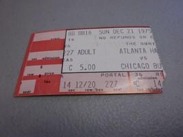 Chicago Bulls vs Atlanta Hawks (12-21-1975) At,The Omni  Game Ticket Stub - $3.12
