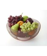New Fruit Vegetable Storage Basket Bowl Holder Copper Color Mesh Decor K... - $29.69+