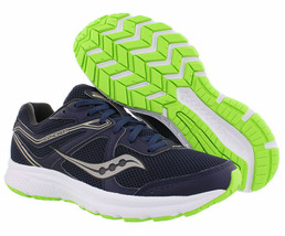 Saucony Men's Cohesion 11 Running Shoes, S20420-1, Navy\Slime, Size US 10 M - $43.52