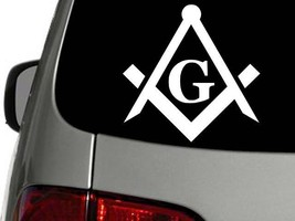Masonic Emblem Freemason Vinyl Decal Car Truck Window Sticker CHOOSE SIZ... - $1.94+