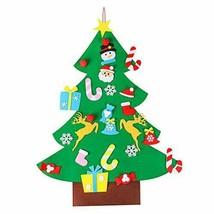 OULII Arbol de Navidad de Fieltro con 26pcs Adornos Arbol de Navidad Des... - $22.25