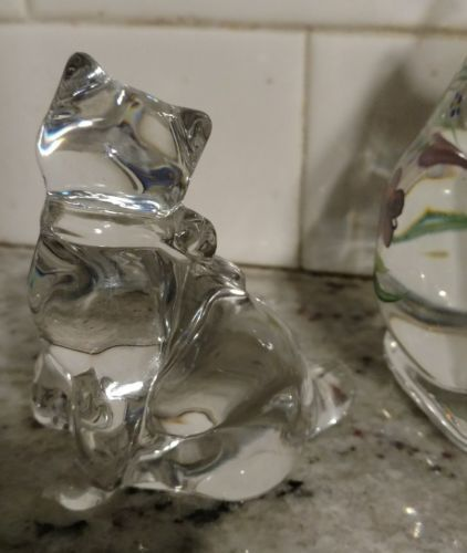 """Lenox Glass Cats Figurines from Estate 6"""" & 3.5"""" Hand Painted image 5"""