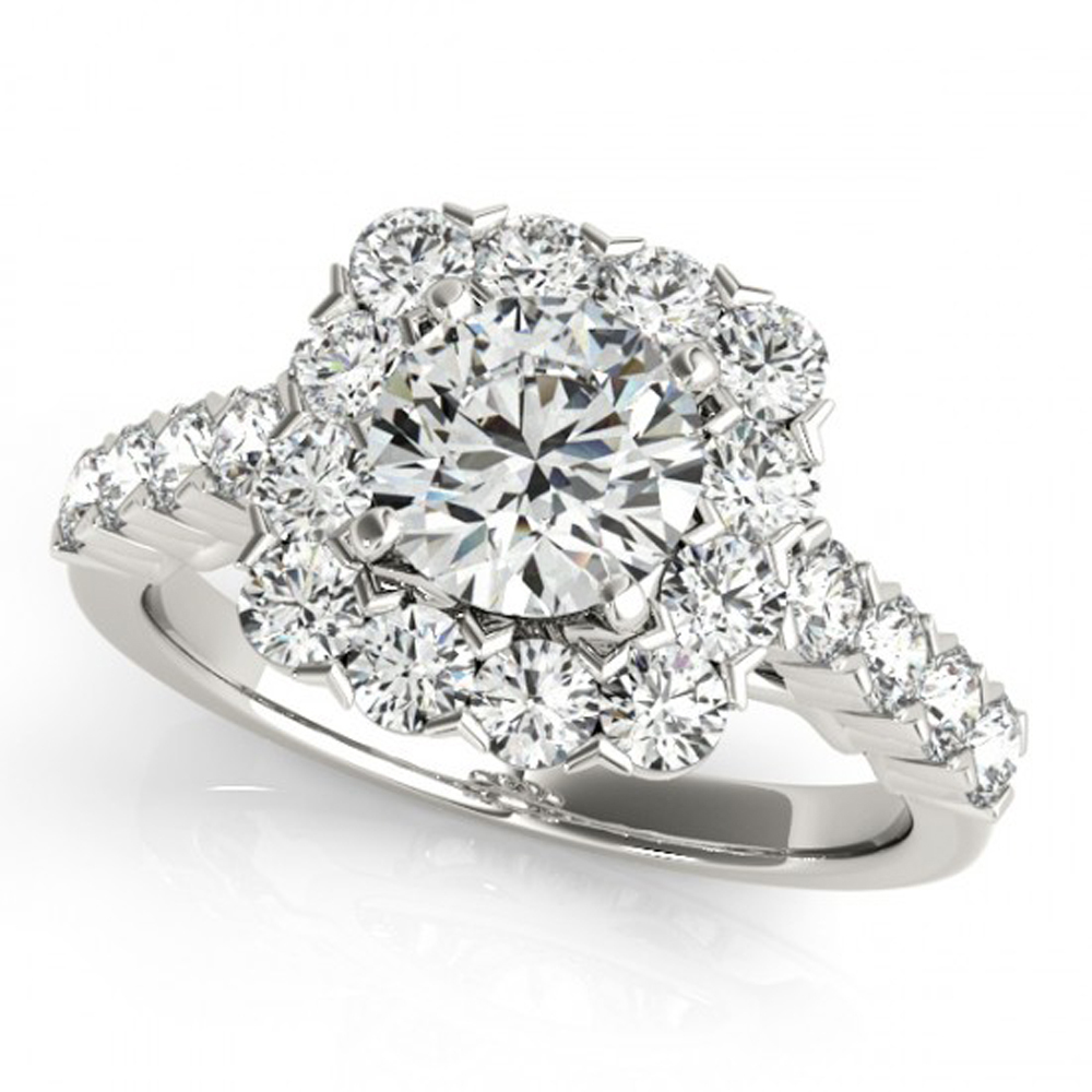 Round Cut Cubic Zirconia Bridal Engagement Ring Set White Gold Plated 925 Silver