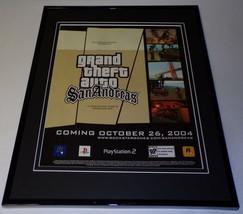 Grand Theft Auto San Andreas 2004 XBox Framed 11x14 ORIGINAL Advertiseme... - $22.55