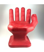 Vintage RMIC red plastic hand shaped chair - $356.39