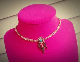 Dream Catcher Choker Necklace Turquoise Howlite Choker Boho Dreamcatcher... - $66.00
