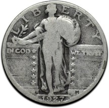 1927S Standing Liberty Silver Quarter Coin Lot A 306