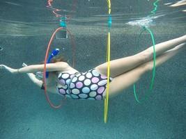 Water Sports Swim Thru Rings (3 Pack) - Adjustable Floating Rings