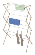 Laundry Wooden Collapsible Drying Rack Clothes Folding Portable Indoor O... - £15.12 GBP