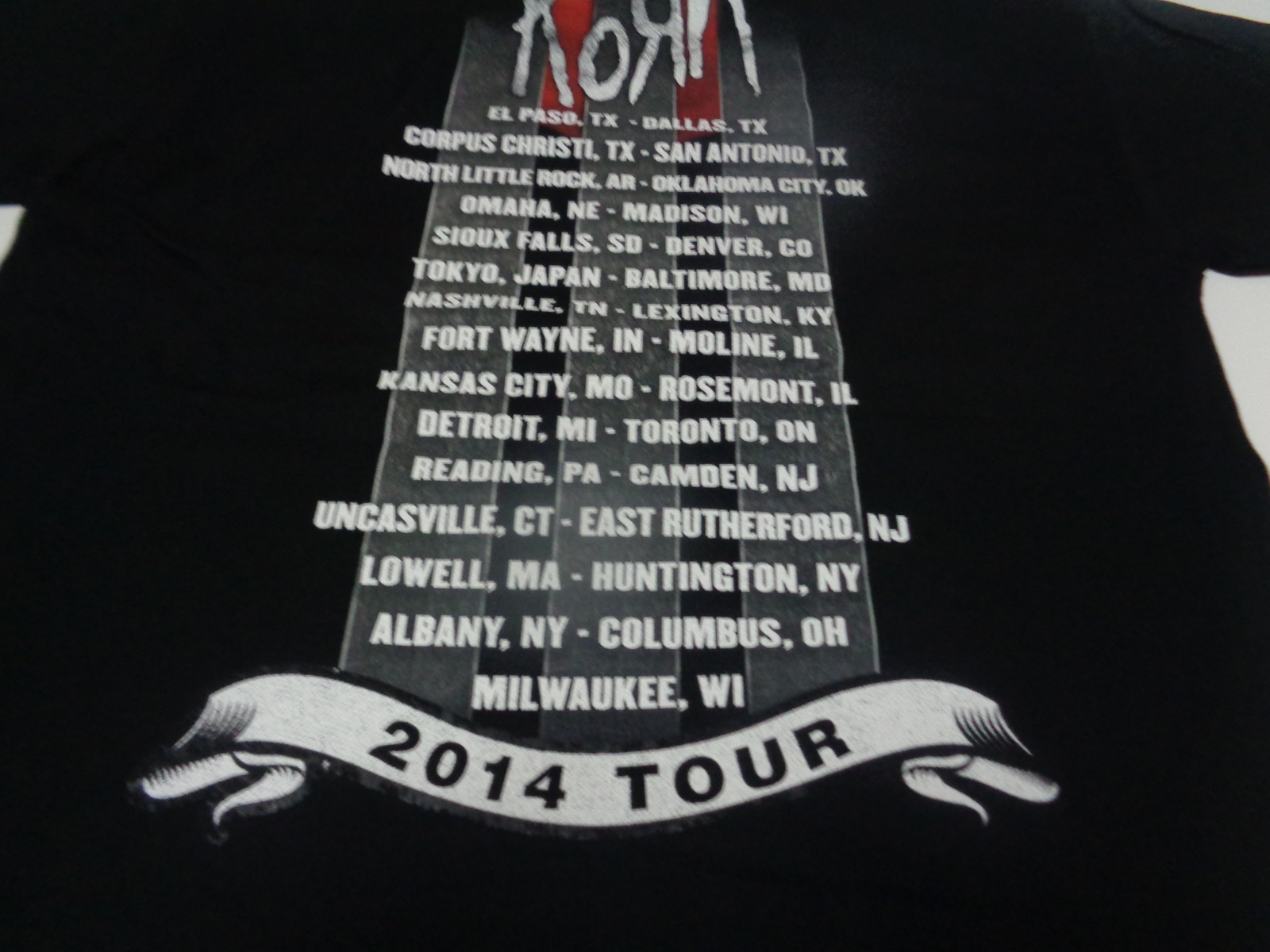 KORN NO HATE NO SHAME 2014 Tour Black T-Shirt NWT Sz Large Gildan Heavy Cotton