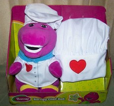 "Barney Barney Chef Hat BARNEY Plush 11""H & Child Size Chef Hat New - $24.26"