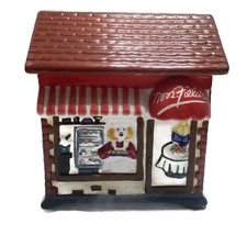 Mrs. Fields Cookie Jar Pastry Bakery Shoppe Storefront Brick Red Awning   - $11.83