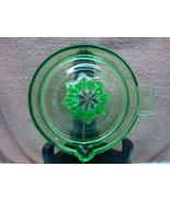 Federal Glass Co. green vaseline glass juice reamer. - $20.00