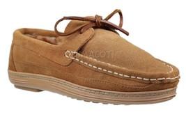 Mens Clarks Tan Nubuck Moccasin Slippers [803200] - $15.99