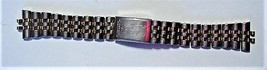 "NEW Men's SEIKO Gold & Silver-Tone Watch Band 7"" long x 20mm wide Japan - $39.95"