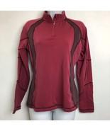 quechua decathlon creations womens 3/4 zip long sleeve shirt size S - $12.19